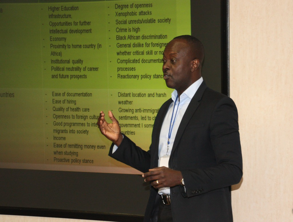 Principal investigator, Dr Emmanuel Owusu-Sekyere presenting the findings of the study.