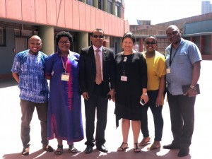 Vice President of Madagascar's Parliament visited AISA in the HSRC